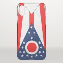 iPhone X deflector case with flag Ohio, USA