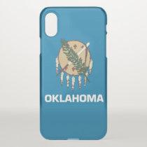 iPhone X deflector case with flag Oklahoma, USA