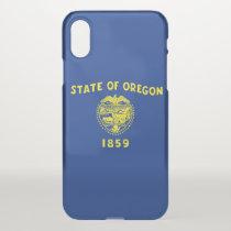 iPhone X deflector case with flag Oregon, USA