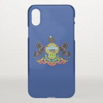 iPhone X deflector case with flag Pennsylvania USA