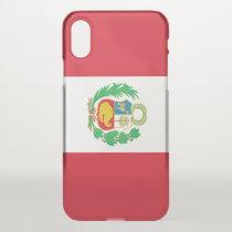 iPhone X deflector case with flag Peru