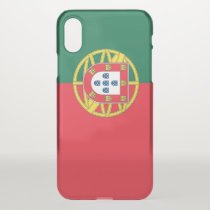 iPhone X deflector case with flag Portugal