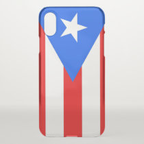 iPhone X deflector case with flag Puerto Rico, USA