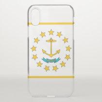iPhone X deflector case with flag Rhode Island USA