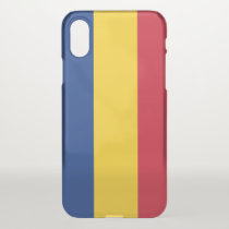 iPhone X deflector case with flag Romania