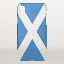 iPhone X deflector case with flag Scotland, UK