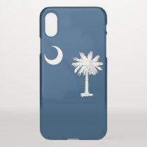 iPhone X deflector case with flag South Carolina