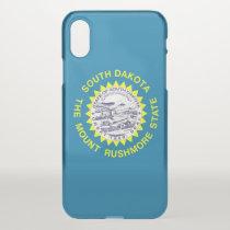 iPhone X deflector case with flag South Dakota