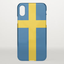 iPhone X deflector case with flag Sweden