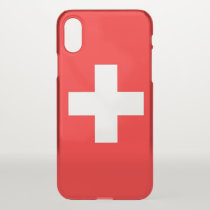 iPhone X deflector case with flag Switzerland