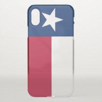 iPhone X deflector case with flag Texas, USA
