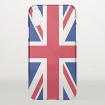 iPhone X deflector case with flag United Kingdom