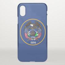 iPhone X deflector case with flag Utah, USA