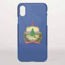 iPhone X deflector case with flag Vermont, USA