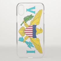 iPhone X deflector case with flag Virgin Islands