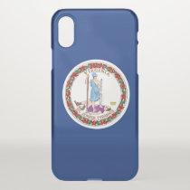 iPhone X deflector case with flag Virginia, USA