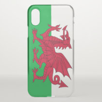 iPhone X deflector case with flag Wales, UK