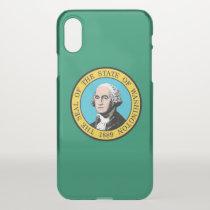 iPhone X deflector case with flag Washington, USA