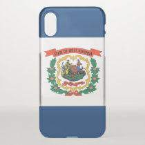 iPhone X deflector case with flag West Virginia