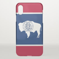 iPhone X deflector case with flag Wyoming