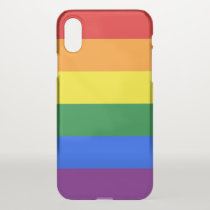 iPhone X deflector case with Pride flag LGBT