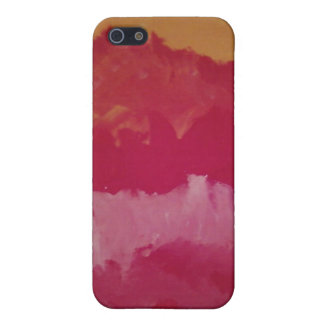 iPhone YELLOW AND RED SPLOTCH ART CASE Case For iPhone 5/5S
