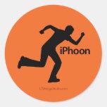 iPhoon - pegatinas Etiqueta Redonda