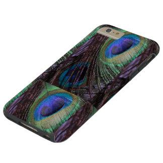 IPIHONE6 CASO - PLUMAS DEL PAVO REAL FUNDA PARA iPhone 6 PLUS TOUGH