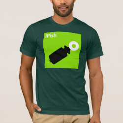 Men's Basic American Apparel T-Shirt with iPish Green design