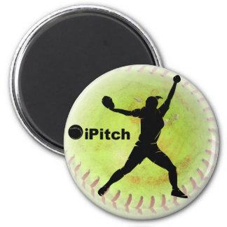 iPitch Fastpitch Softball 2 Inch Round Magnet