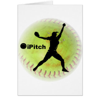 iPitch Fastpitch Softball Greeting Cards