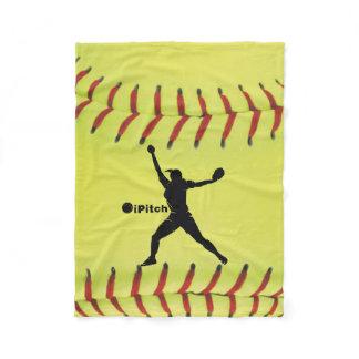 iPitch Fastpitch Softball Fleece Blanket