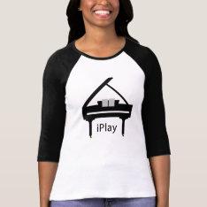 Iplay Grand Piano Shirt at Zazzle