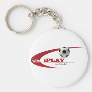 iPLAY to WIN SOCCER Basic Round Button Keychain