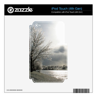 iPod 4th gen skin with photo of winter landscape iPod Touch 4G Decals