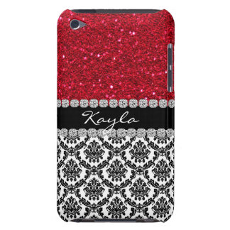 IPOD BLING  CRYSTAL LOOK Damask Design CASE iPod Touch Covers