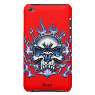 IPod BT - Cráneo cristalino con las llamas iPod Touch Case-Mate Cárcasas
