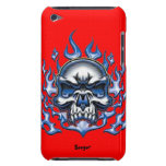 Ipod bt - Crystal Skull with Flames Barely There iPod Cases