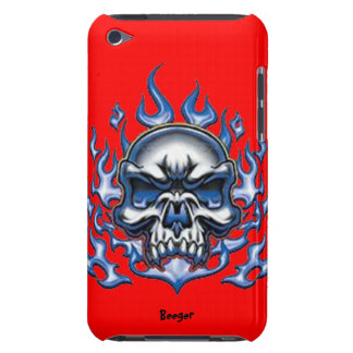 Ipod bt - Crystal Skull with Flames iPod Touch Cases