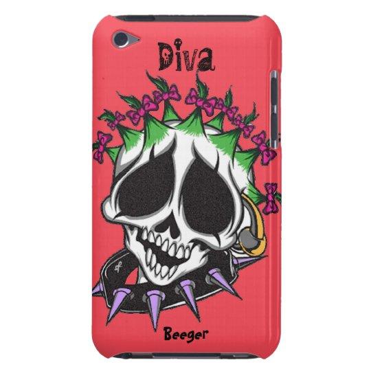 Ipod bt - Diva Glam Skull iPod Touch Case-Mate Case