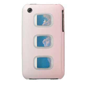 ipod case-airplane windows with flying pig Case-Mate iPhone 3 case