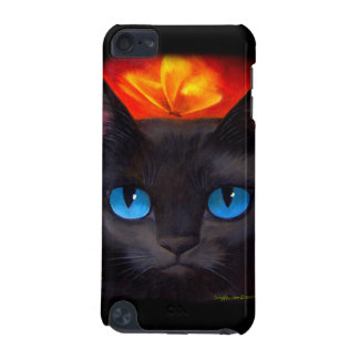 iPod Case Black Cat Butterfly Painting iPod Touch 5G Cover