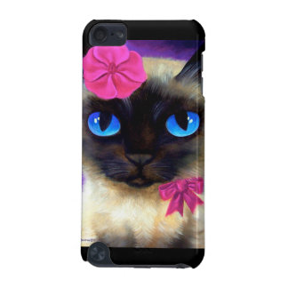 iPod Case Siamese Cat Flower Feline Painting iPod Touch (5th Generation) Case