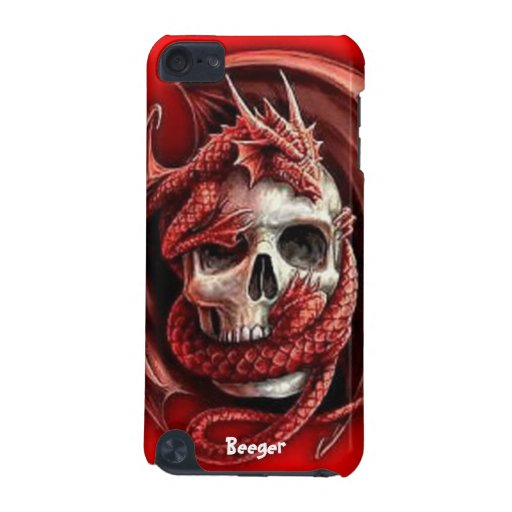 IPod Case - Skull & Medieval Dragon iPod Touch (5th Generation) Covers