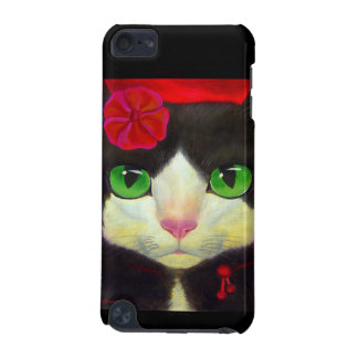 iPod Case Tuxedo Cat Red Flower Painting Art iPod Touch 5G Cover