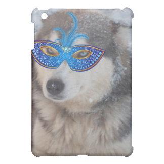Ipod Case with Husky BlueEyes Mardi Gras Mask iPad Mini Covers