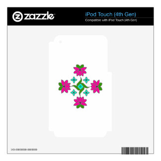 ipod skin-Flower Series#80 Decals For iPod Touch 4G