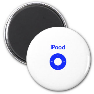 Ipod spoof ipood 2 inch round magnet