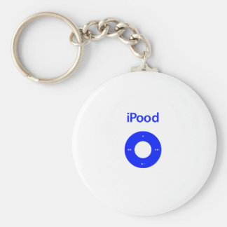 Ipod spoof ipood basic round button keychain