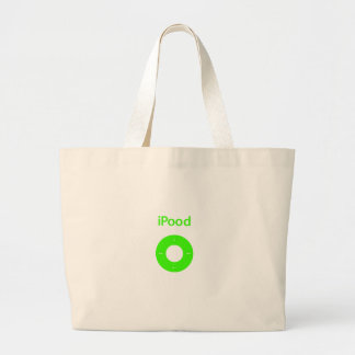 Ipod spoof Ipood green Canvas Bags